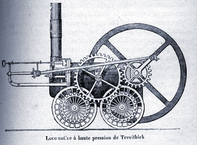 Steam locomotive in Trevithick