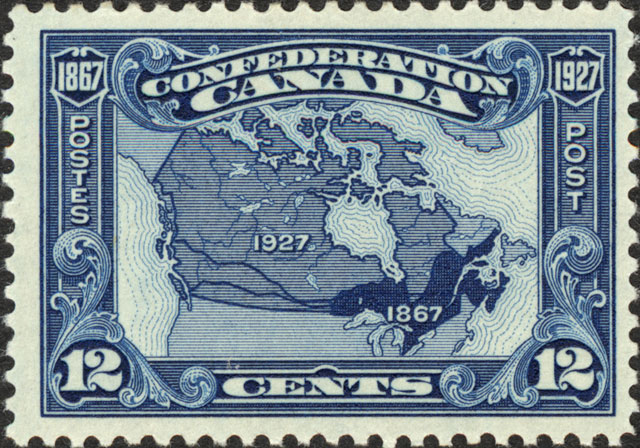 Stamp in honour of the Confederation and the expansion west