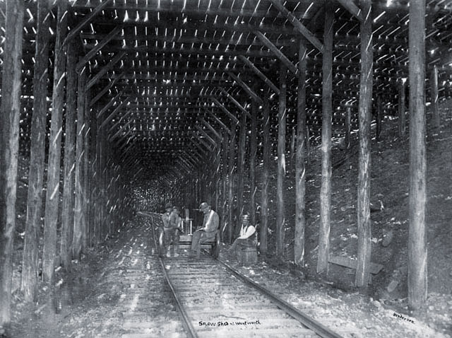 Intercolonial Railway Snow Shed