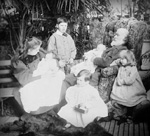Fleming surrounded by his grandchildren at Winterholme