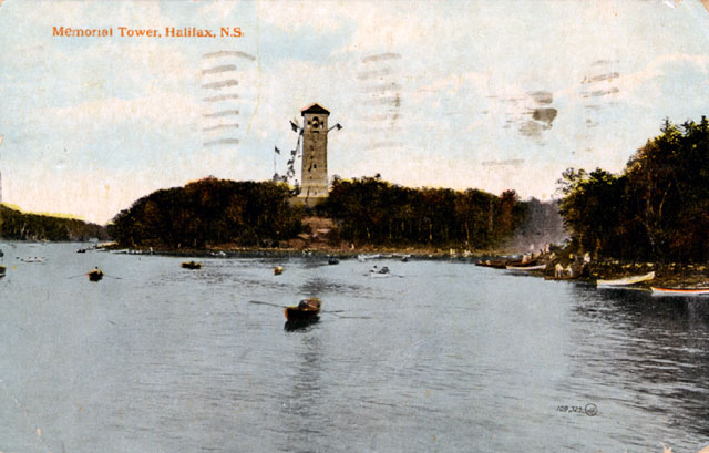 Memorial Tower in Halifax drawn by Fleming