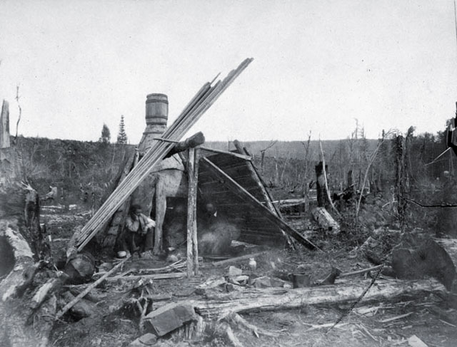 Camp during a surveying expedition