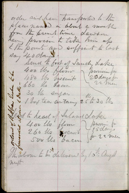 Extract from Fleming's journal