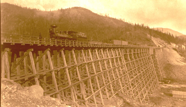 Working on the Mountain Creek Bridge in Selkirk