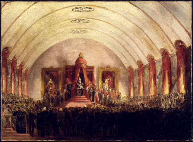 The opening of the Montreal Parliament