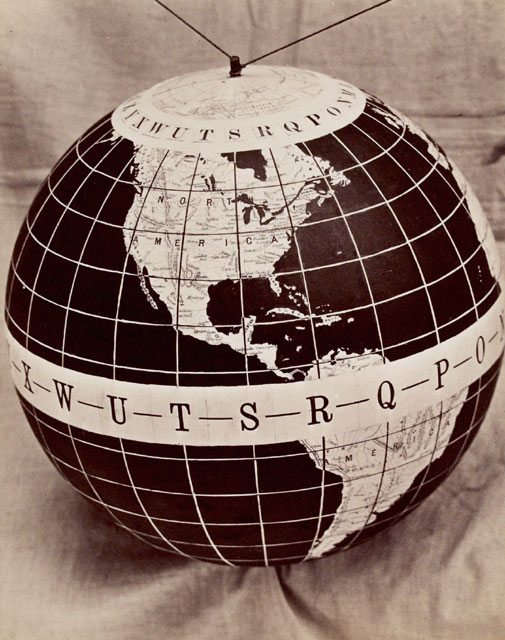 Time zone globes of North America